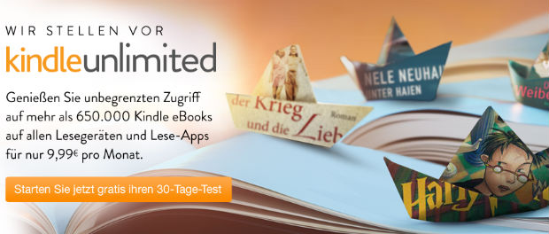 Amazon startet E-Book-Flatrate Kindle Unlimited in Deutschland