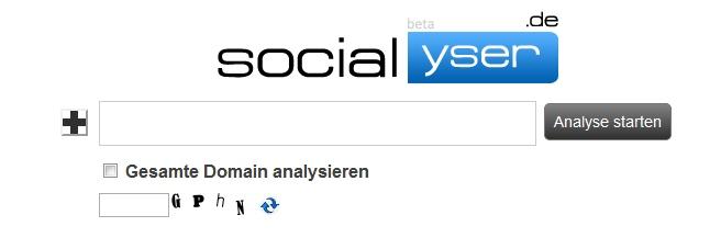 Analyse mit Socialyser beginnen