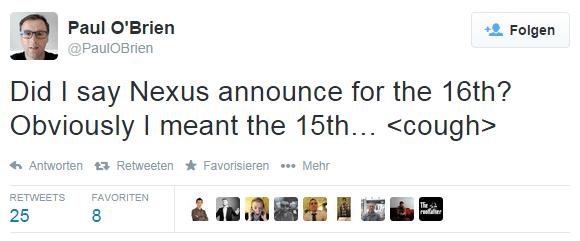Google Nexus 6 kommt am 15. Oktober