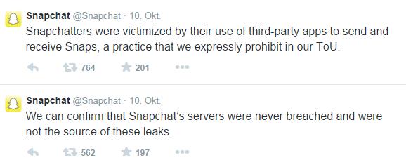 Snapchat - Unsere Systeme sind sicher