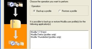 MozBackup - Erstellen eines Backups von Firefox und Thunderbird