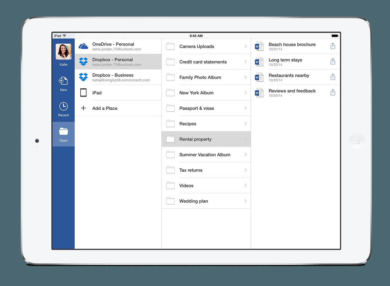 Zugriff auf Office-Dateien via Dropbox