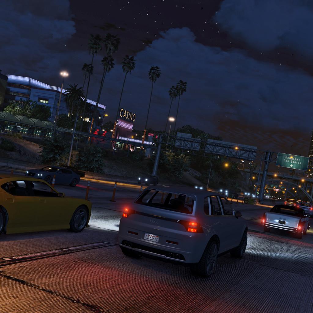 Umgebung von Grand Theft Auto 5 bei Nacht