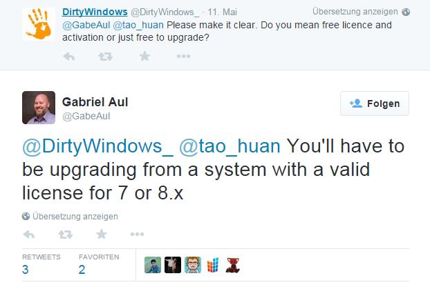 Microsoft Manager Gabriel Aul korrigiert seine Aussage