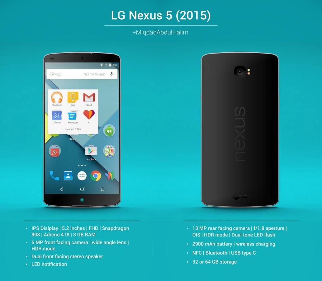 Konzept des Nexus 5 (2015) in Schwarz (© Miqdad Abdul Halim)